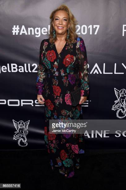 Founder Denise Rich arrives at Gabrielle's Angel Foundation's Angel Ball 2017 at Cipriani Wall Street on October 23 2017 in New York City