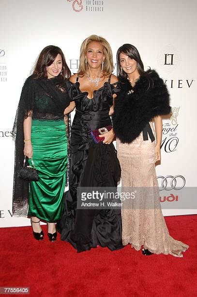 P founder Denise Rich wearing LEVIEV jewelry poses with her daughters Daniella Rich Kilstock and Ilona Rich Schachter at the 2007 Angel Ball...