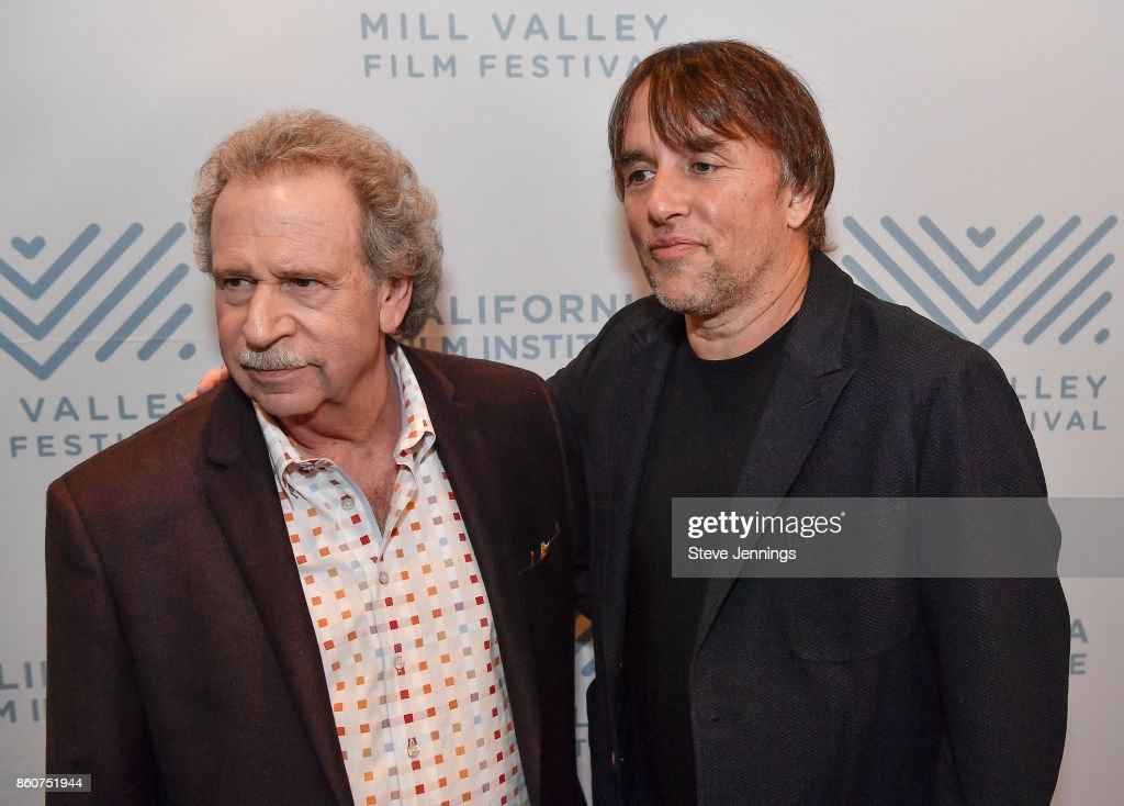 Founder & Director Mark Fishkin and Director Richard Linklater attend the Mill Valley Film Festival Premiere of 'Last Flag Flying' at Christopher B. Smith Rafael Film Center on October 12, 2017 in San Rafael, California.