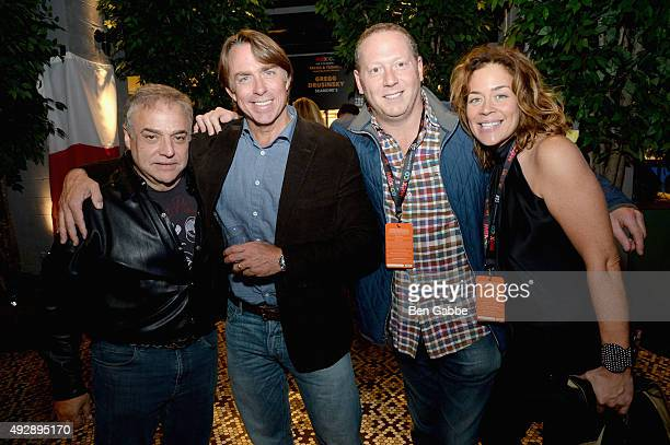 Founder & Director of of SOBEWFF Lee Schrager and Chef John Besh attend Tacos & Tequila presented by Mexico hosted by Aaron Sanchez during Food...