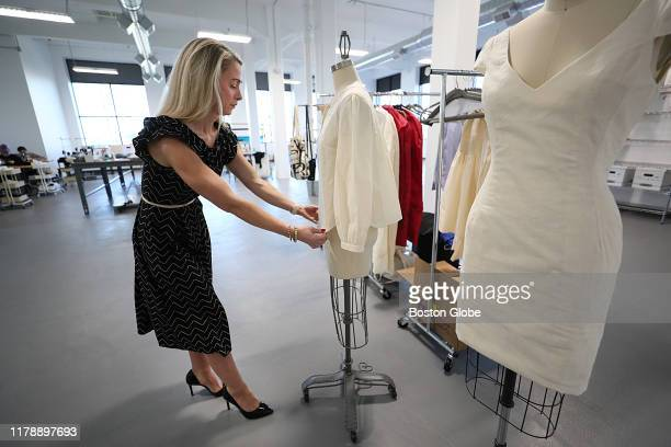 Founder Donielle McKeever works at fashion incubator and factory ThreadTech in East Boston on Oct 21 2019