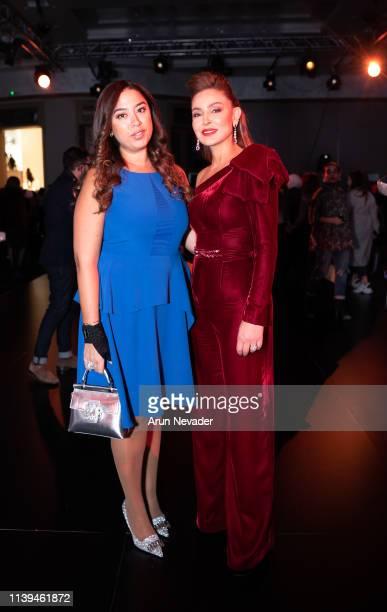 Founder Editor in Chief of A E Magazine Lara Mansour and founder of Jordan Fashion Week Shirene Rifai attend Jordan Fashion Week 019 on March 30 2019...