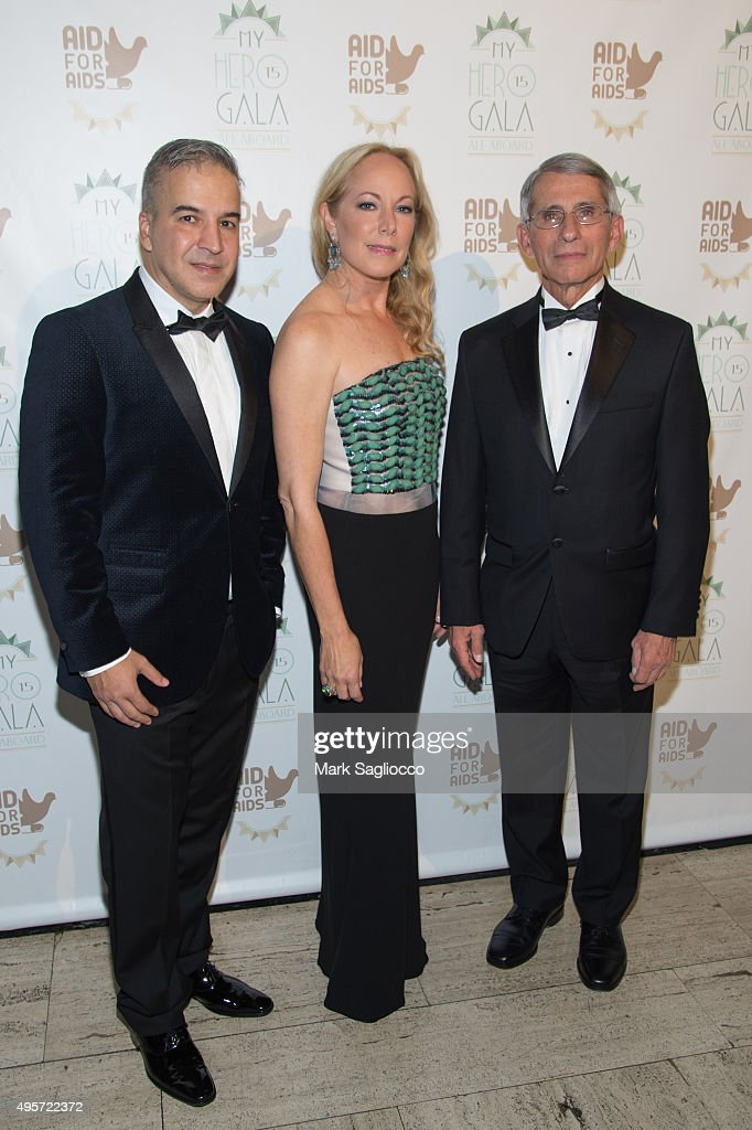 Founder & Executive Director Jesus Aguais, Maria Eugenia Maury and My Hero 2015 Honoree Dr. Anthony Fauci attend the 2015 Aid For AIDS Gala at Cipriani Downtown on November 4, 2015 in New York City.