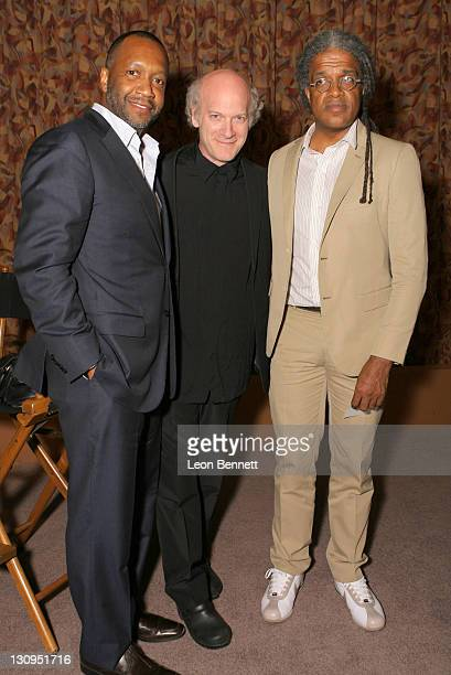 Founder Jeff Friday Producer/Film Critic Elvis Mitchell and Director Timothy GreenfieldSanders attends the Closing Night Gala of the 12th Annual...