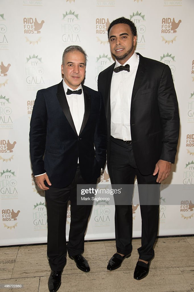 Founder Jesus Aguais and Nelson Cruz attend the 2015 Aid For AIDS Gala at Cipriani Downtown on November 4, 2015 in New York City.