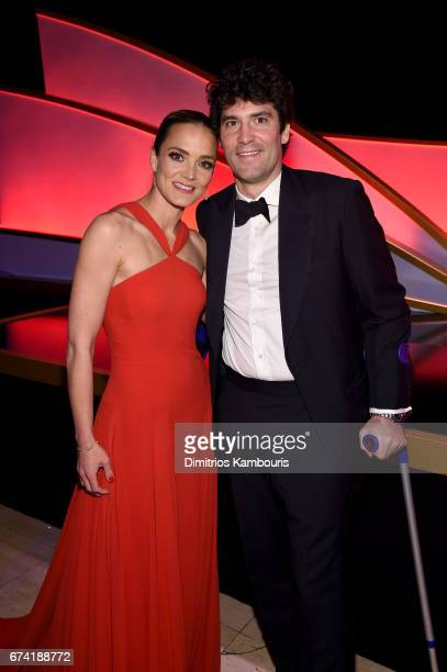 DKMS founder Katharina Harf and Alejandro Santo Domingo attend 11th Annual DKMS 'BIG LOVE' Gala on April 27 2017 in New York City