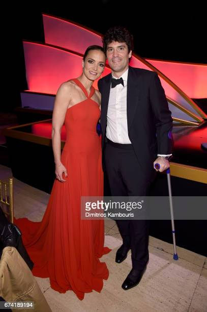 DKMS founder Katharina Harf and Alejandro Santo Domingo attend 11th Annual DKMS BIG LOVE Gala on April 27 2017 in New York City