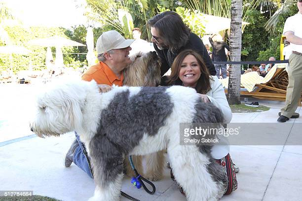 SOBEWFF founder Lee Schrager John Cusimano and host Rachael Ray attend Nutrish's Yappie Hour Hosted By Rachael Ray during the 2016 Food Network...