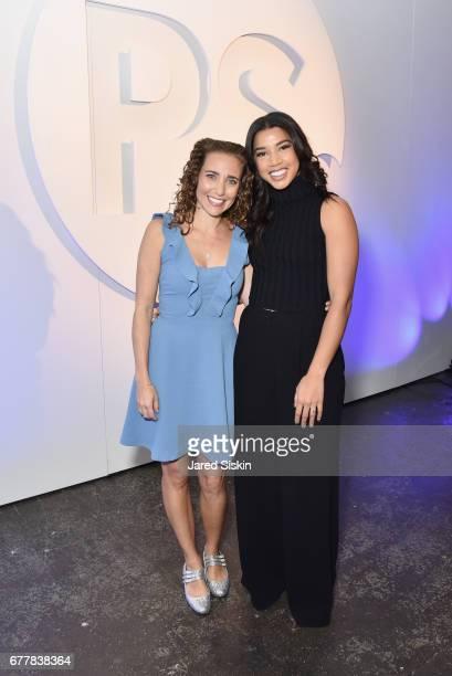 POPSUGAR founder Lisa Sugar and Hannah Bronfman attends POPSUGAR 2017 Digital NewFront at Industria Studios on May 3 2017 in New York City