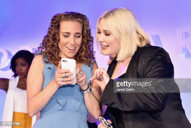 POPSUGAR founder Lisa Sugar and Hayley Hasselhoff attend POPSUGAR 2017 Digital NewFront at Industria Studios on May 3 2017 in New York City