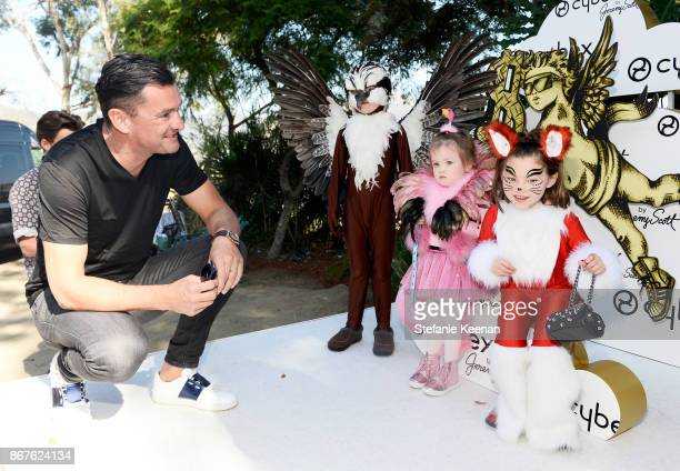 Founder Martin Pos and kids at the Cybex by Jeremy Scott Cherub Halloween Launch Celebration on October 28 2017 in Los Angeles California