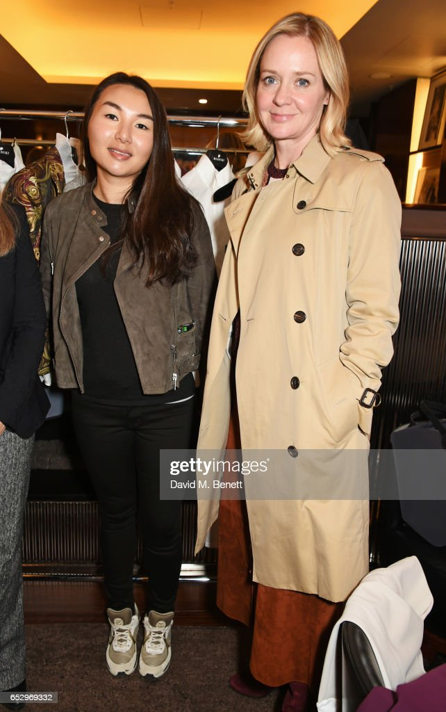 MIASUKI founder Mia S. Lei (L) and Kate Reardon attend a cocktail party at the Bulgari Hotel London to celebrate the launch of MIASUKI at Harrods on March 13, 2017 in London, England.