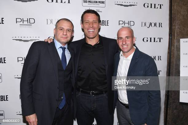 Founder of 5W Public Relations, Ronn Torossian, Author Tony Robbins and President of Saks OFF 5TH, Gilt & Find @ Lord & Taylor, Jonathan Greller...
