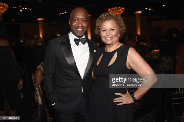 Founder of ABFF Jeff Friday and chairman and chief executive officer of BET Debra Lee attend BET Presents the American Black Film Festival Honors on...