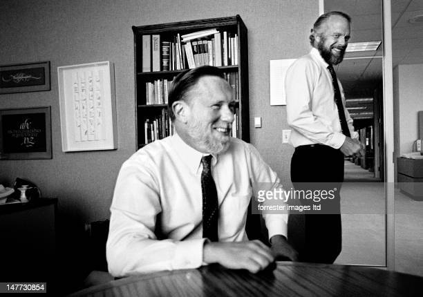 Founder of Adobe systems John Warnock and Chuck Geshke prepare to launch Photoshop in 1988 in Mountain View California SELECTED FOR 2012 VISA POUR...
