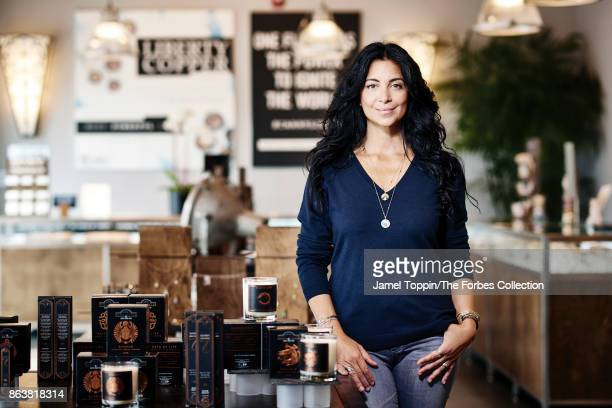 Founder of Alex and Ani Carolyn Rafaelian is photographed for Forbes Magazine on November 3 2016 in Cranston Rhode Island PUBLISHED IMAGE CREDIT MUST...
