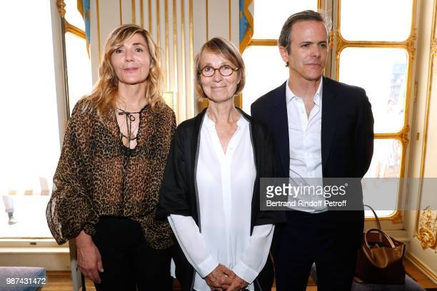 Founder of Andam Nathalie Dufour French Minister of Culture Francoise Nyssen and President of Andam Guillaume Houze attend the Andam Fashion Awards...