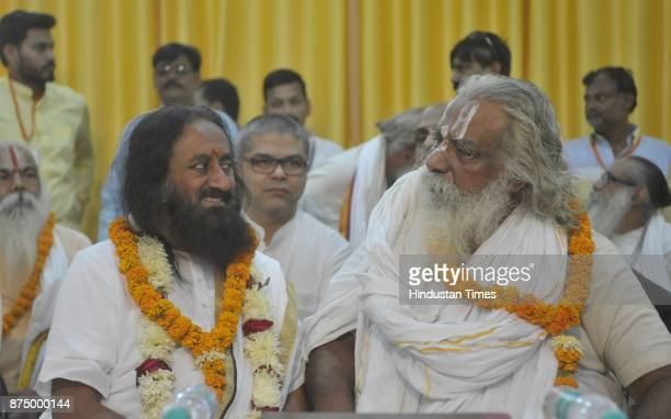 Founder of Art of living Shree Shree Ravi Shankar met Mahant Nrityagopal Das and other saints regarding construction of Ram Mandir on November 16...