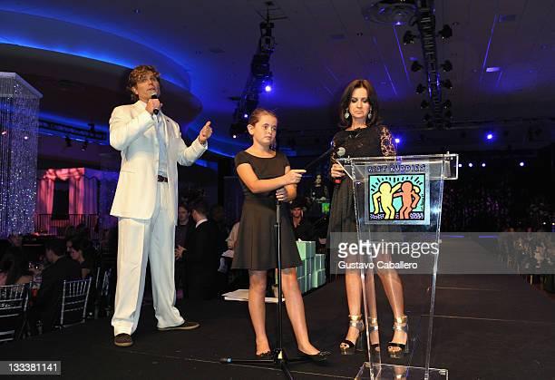 Founder of Best Buddies International Anthony Shriver Carolina Shriver and Vice President of Art Merchandise Best Buddies Alina Shriver speak onstage...
