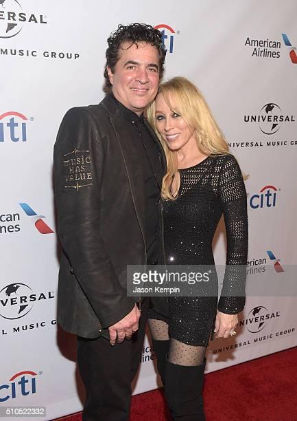 Founder of Big Machine Records Scott Borchetta and Sandi Spika Borchetta attend Universal Music Group 2016 Grammy After Party presented by American...