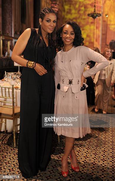 Founder of Black Girls Rock! Beverly Bond and Actress Anika Noni Rose and attend Variety Power Of Women: New York presented by FYI at Cipriani 42nd...