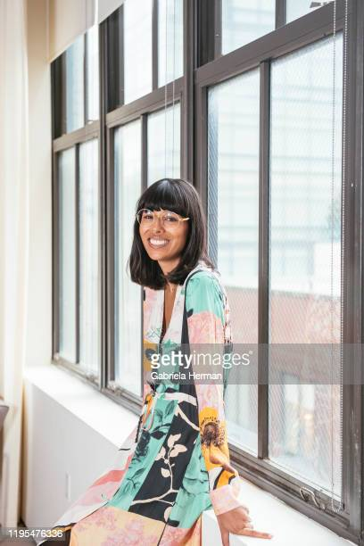 Founder of bybabba brand marketing agency, Babba Canales Rivera is photographed on April 4, 2018 in New York City.