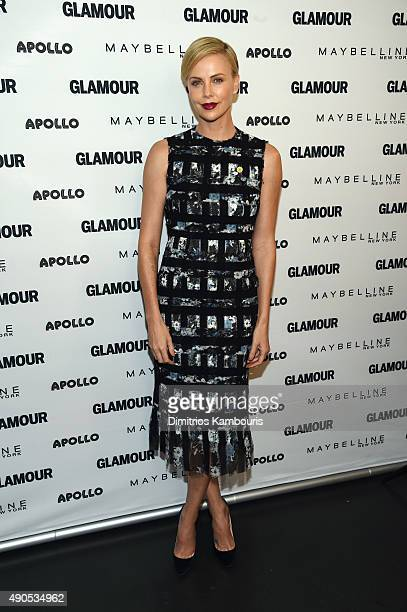 Founder of Charlize Theron Africa Outreach Project and UN Messenger of Peace Charlize Theron join Glamour 'The Power Of An Educated Girl' panel at...