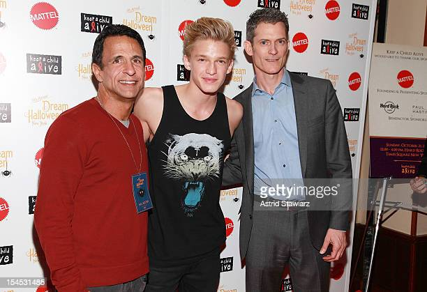 Founder of Children Affected by AIDS Foundation, Joe Cristina, singer Cody Simpson and Chief Executive Officer at Keep A Child Alive, Peter Twyman...