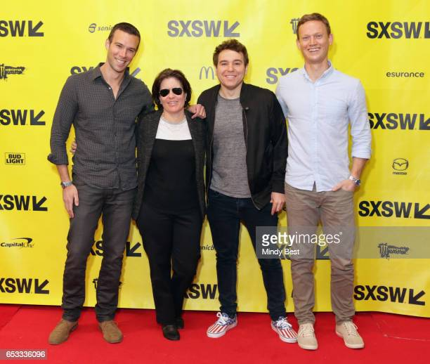 Founder of Crooked Media Jon Favreau, Co-Founder and Executive Editor of Vox Media Inc. Kara Swisher, founders of Crooked Media Jon Lovett, and Tommy...