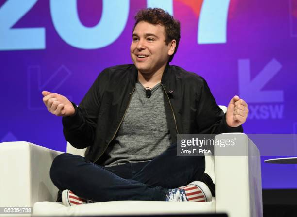 Founder of Crooked Media Jon Lovett speaks onstage at 'Kara Swisher in Conversation With Crooked Media Founders' during 2017 SXSW Conference and...