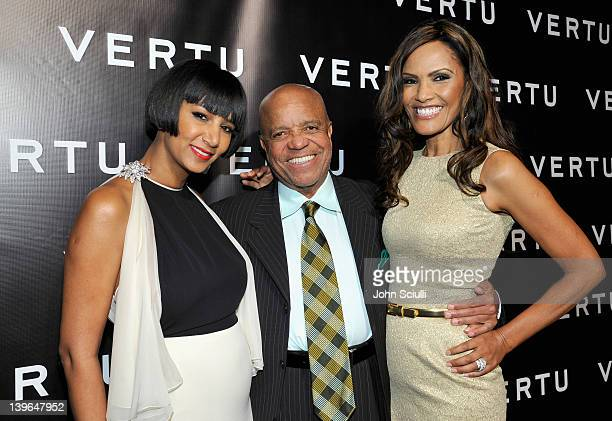 Founder of Dream for Africa Foundation Gelila Puck, producer Berry Gordy and Eskedar Gobeze attend Vertu and Gelila and Wolfgang Puck Celebrate the...