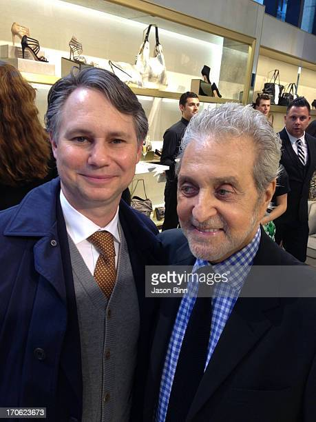 Founder of DuJour Media Jason Binn and designer Vince Camuto post at the Vince Camuto Flagship Opening with Adriana Lima in collaboration with New...