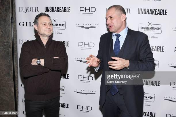 Founder of DuJour Media, Jason Binn and founder of 5W Public Relations, Ronn Torossian attend Tony Robbins' Birthday celebration and book launch of...