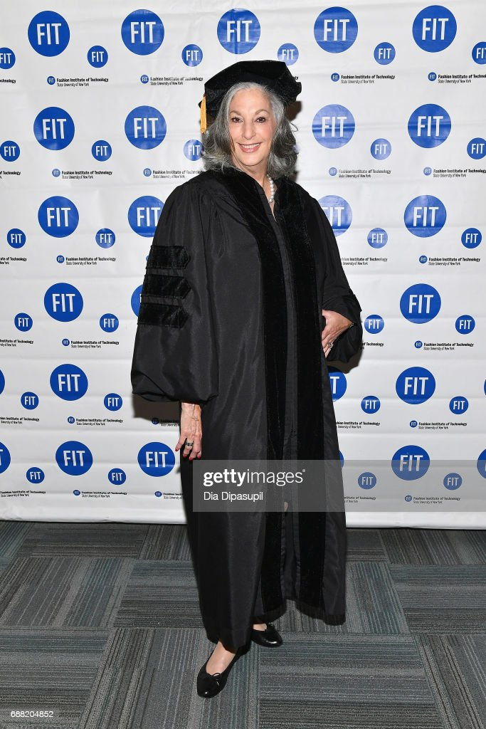 Founder of Essie Cosmetics, Ltd Essie Weingarten attends The Fashion Institute of Technology's 2017 Commencement Ceremony at Arthur Ashe Stadium on May 25, 2017 in New York City.