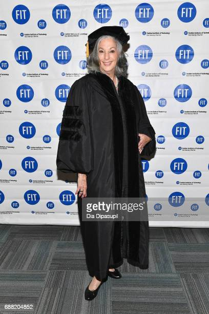 Founder of Essie Cosmetics Ltd Essie Weingarten attends The Fashion Institute of Technology's 2017 Commencement Ceremony at Arthur Ashe Stadium on...