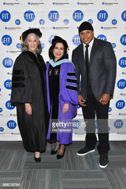 Founder of Essie Cosmetics Ltd Essie Weingarten FIT President Dr Joyce F Brown and LL Cool J attend The Fashion Institute of Technology's 2017...