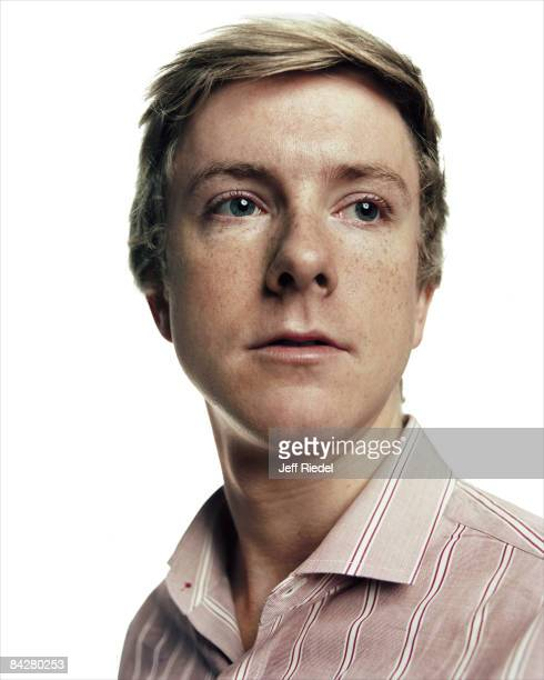 Founder of Facebook Chris Hughes poses for a portrait session at the Democratic National Convention in Denver Colorado Published image