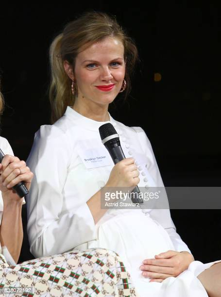 Founder of FINERYcom Brooklyn Decker participates in the 'CHAMPION EQUALITY MAKE IT YOUR BUSINESS' panel event hosted by Keds LOLA to celebrate...