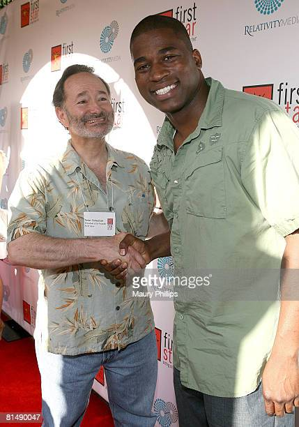 Founder of First Star Peter Samuelson and rapper David Banner attend the First Star Celebration for Children's Rights on June 7 2008 at the Wilshire...