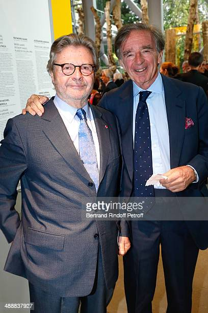 Founder of 'Fondation Cartier' Alain Dominique Perrin and Aimery Langlois Meurinne attend the 'Fondation Cartier pour l'art contemporain' celebrates...