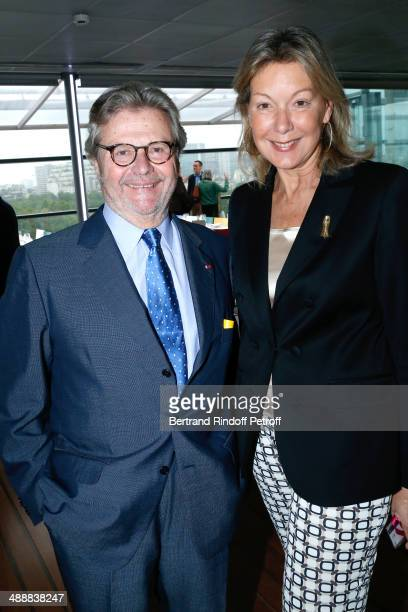 Founder of 'Fondation Cartier' Alain Dominique Perrin and Director of External Relations Cartier International Christine Borgoltz Halff attends the...