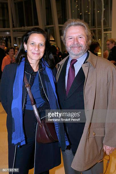 Founder of 'Fondation Cartier' Alain Dominique Perrin and his daughter Director of Development at the Fondation Cartier Sonia Perrin attend the...
