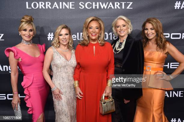 Founder of Gabrielle's Angel Foundation, Denise Rich, Real Housewives of New York City Sonja Morgan, Ramona Singer, and Dorinda Medley, and...