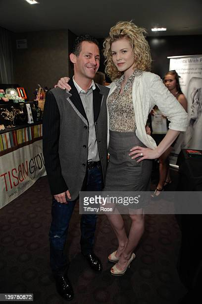 CEO Founder of GBK Productions Gavin Keilly and actress Angel McCord attends GBK's Oscars Gift Lounge at W Hollywood on February 24 2012 in Hollywood...