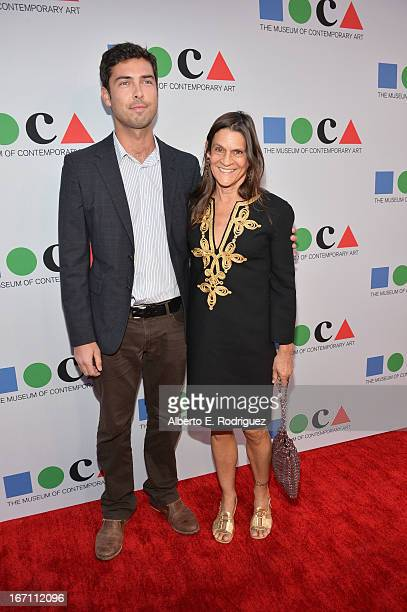 "Founder of GettLove Aileen Getty and guest attend ""Yesssss"" MOCA Gala 2013 Celebrating the Opening of the Exhibition Urs Fischer at MOCA Grand Avenue..."