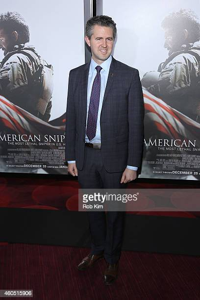 Founder of Got Your 6 Chris Marvin arrives at the American Sniper New York Premiere at Frederick P Rose Hall Jazz at Lincoln Center on December 15...