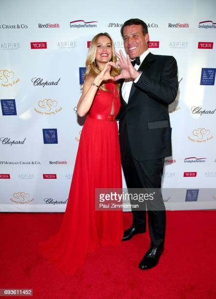Founder of HFF Petra Nemcova and Lifetime Achievement Award Honoree Tony Robbins attend the 2017 Graduation Gala to benefit Happy Hearts Fund held at...