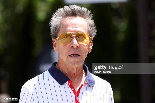 Founder of Imagine Entertainment Brian Grazer leaves lunch at the Allen & Company Sun Valley Conference on July 07, 2021 in Sun Valley, Idaho. After...