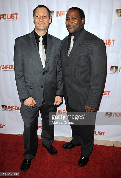 Founder of InfoList Jeff Gund and actor Darius Cottrell at the InfoList PreOscar Soiree And Birthday Party for Jeff Gund held at OHM Nightclub on...
