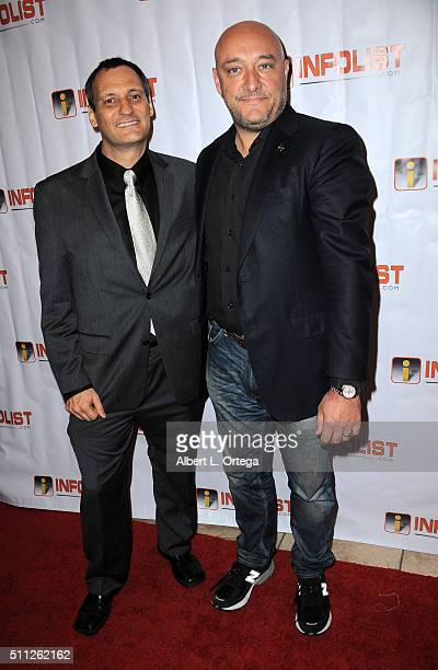 Founder of InfoList Jeff Gund and Dave Anthony of 'Call Of Duty' at the InfoList PreOscar Soiree And Birthday Party for Jeff Gund held at OHM...